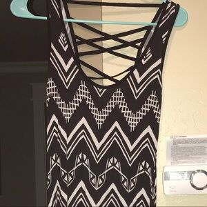 Dresses & Skirts - Black maxi dress with criss cross detail